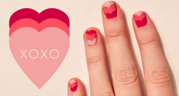valentine's day nails diy