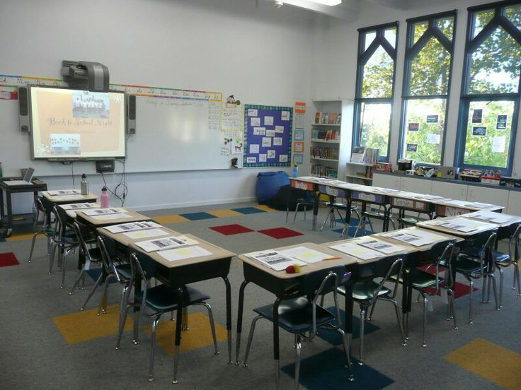 classroom setup use inner row if more students place large name tags
