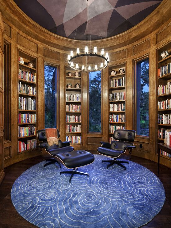 Library office circular for the home pinterest for Modern home decor austin