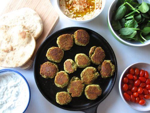 Baked Falafel and Tzatziki Yogurt Sauce. (No deep-frying necessary to ...