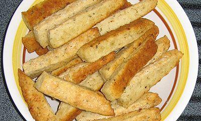 Quick and Easy Bread Sticks (garlic variation) Add garlic powder or ...