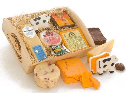 ... Parmesan Cheese, Cow-Shaped Mild Cheddar along with Chocolate Walnut