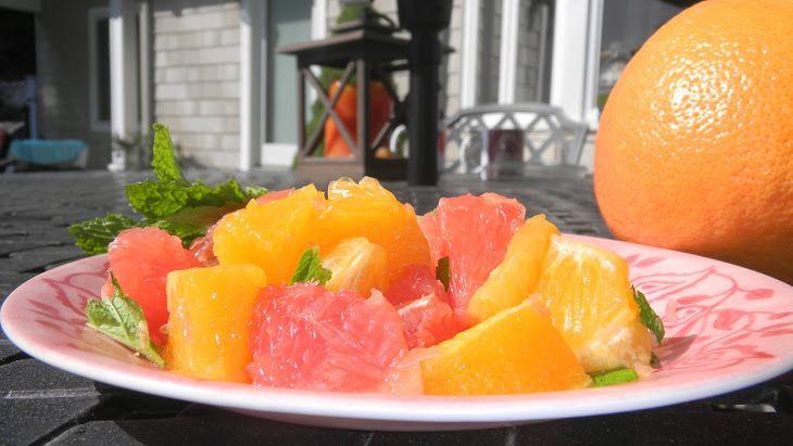 Citrus Mint Salad Recipe | Breakfast at Tiffany's | Pinterest