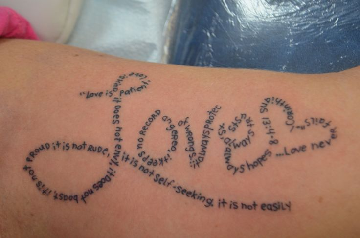 Love is patient love is kind poem tattoo by joel for Tattoo charlie s preston hwy louisville ky