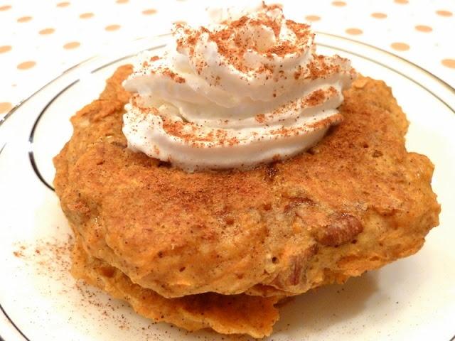 Vegan Carrot Cake Pancakes - add sunwarrior protein powder