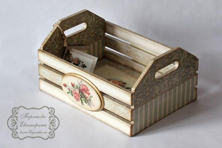 Ящик с декупажем
