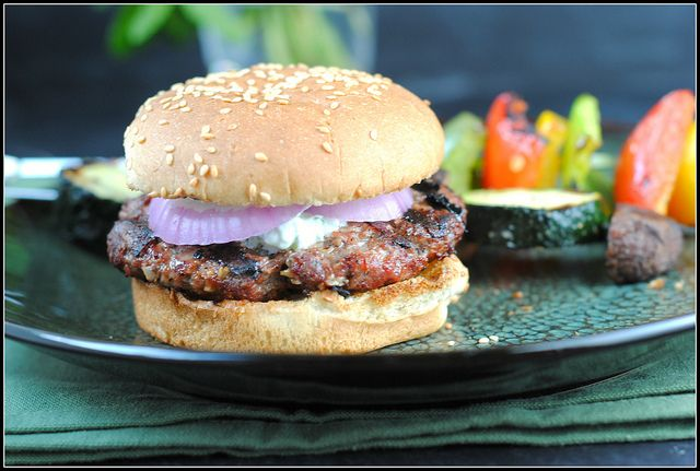 Lamb Burgers with Cilantro Raita | Cooking and Baking | Pinterest