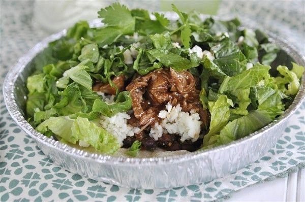 Cafe Rio Sweet Pork Salad & Creamy Tomatillo Salad Dressing
