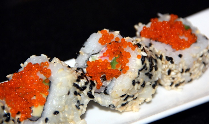 Sushi with tobiko (flying fish roe) | Food Photography..... | Pinte ...