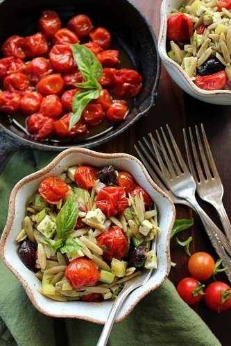 Orzo Salad with Roasted Cherry Tomatoes | Recipes | Pinterest