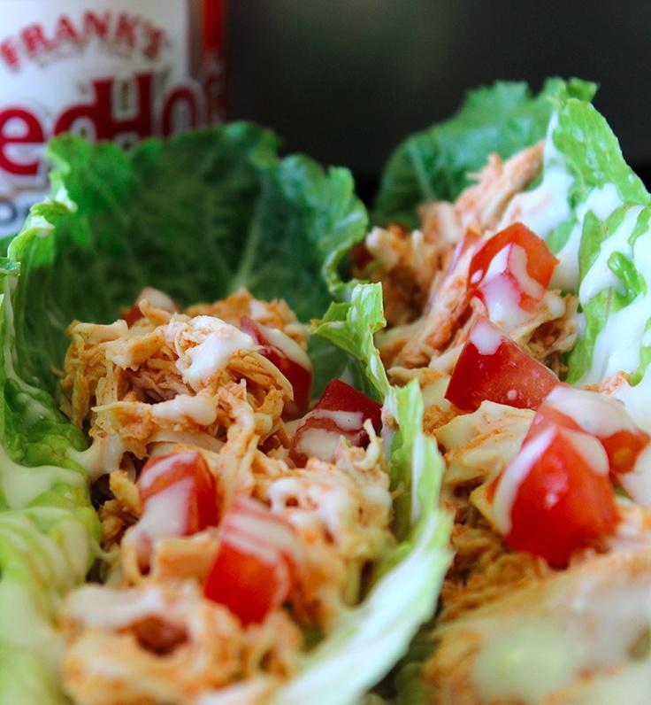 Crock-Pot Buffalo Chicken Lettuce Wraps | What's Crockin | Pinterest
