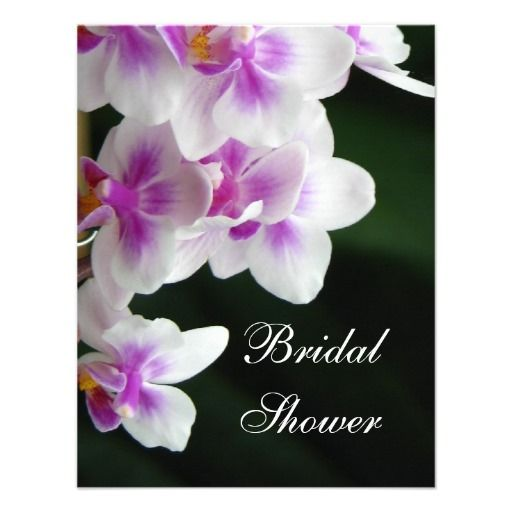 Orchid Bridal Shower Invitation