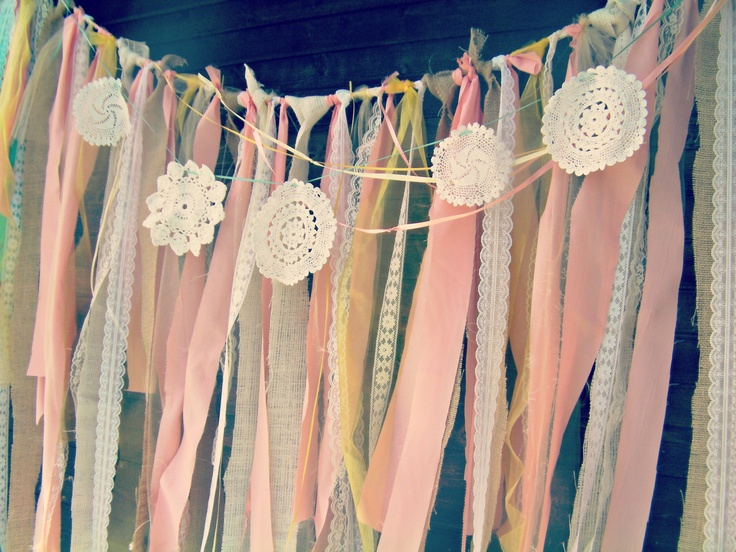 Backdrop Fabric Garland, Customize to match your event.