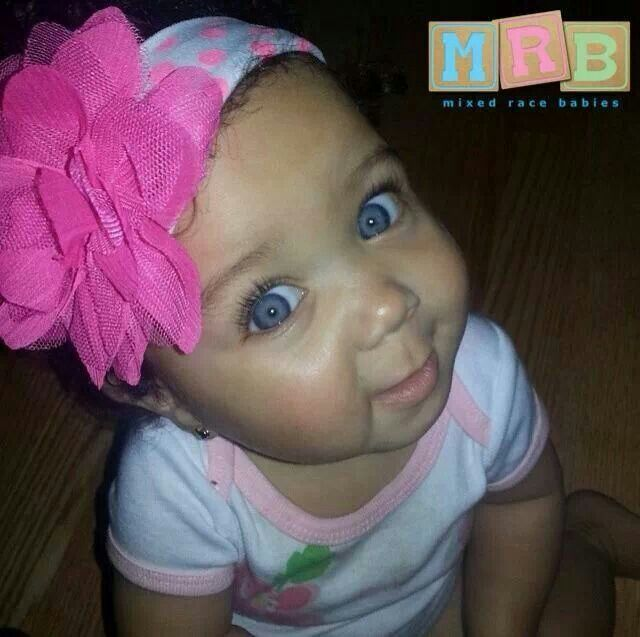 Mixed Newborn Baby Girls With Blue Eyes Mixed babies with blue eyes