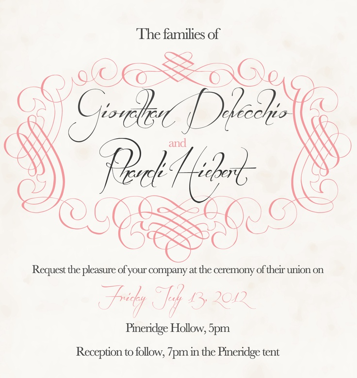 The back of the Wedding Invitation | Wedding Invitations ...