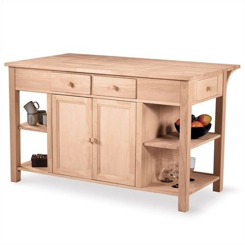 international concepts unfinished kitchen island