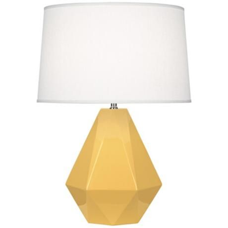 Just An Idea If You Need A Table Lamp. Itu0027s More Of A Sunny Yellow Though  Not Mustard. Otherwise PBK Has The Same Style But In Navy On Sale Right Now.