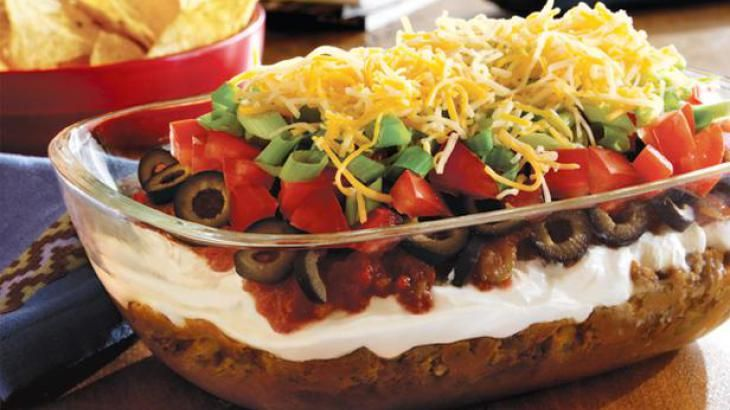 Layer Taco Dip | Recipes | Pinterest