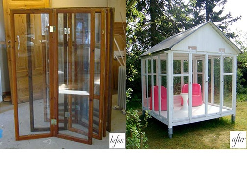 old windows to detached sunroom diy crafts pinterest