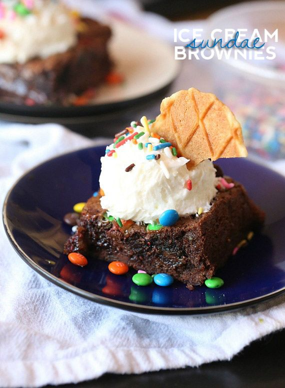 Ice Cream Sundae Brownies Recipe — Dishmaps