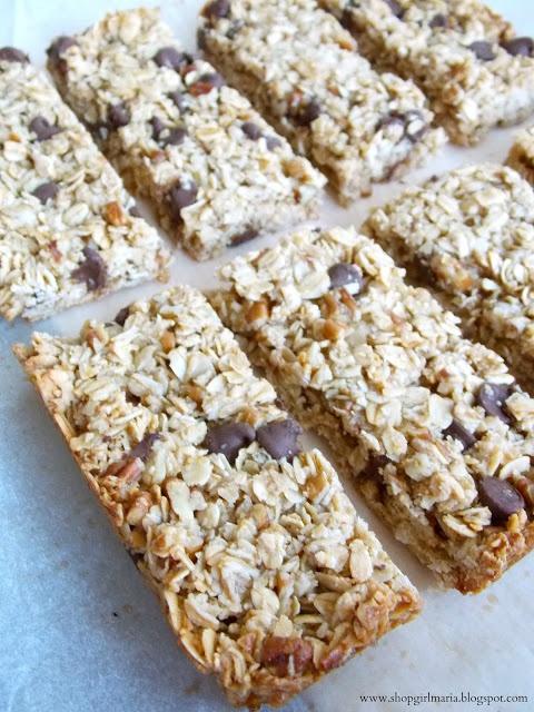 Chocolate Chip Pecan Granola Bars   Sweetness   Pinterest