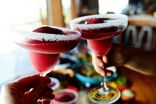 Blackberry Margaritas - seems like a lot of work, but I bet they are ...