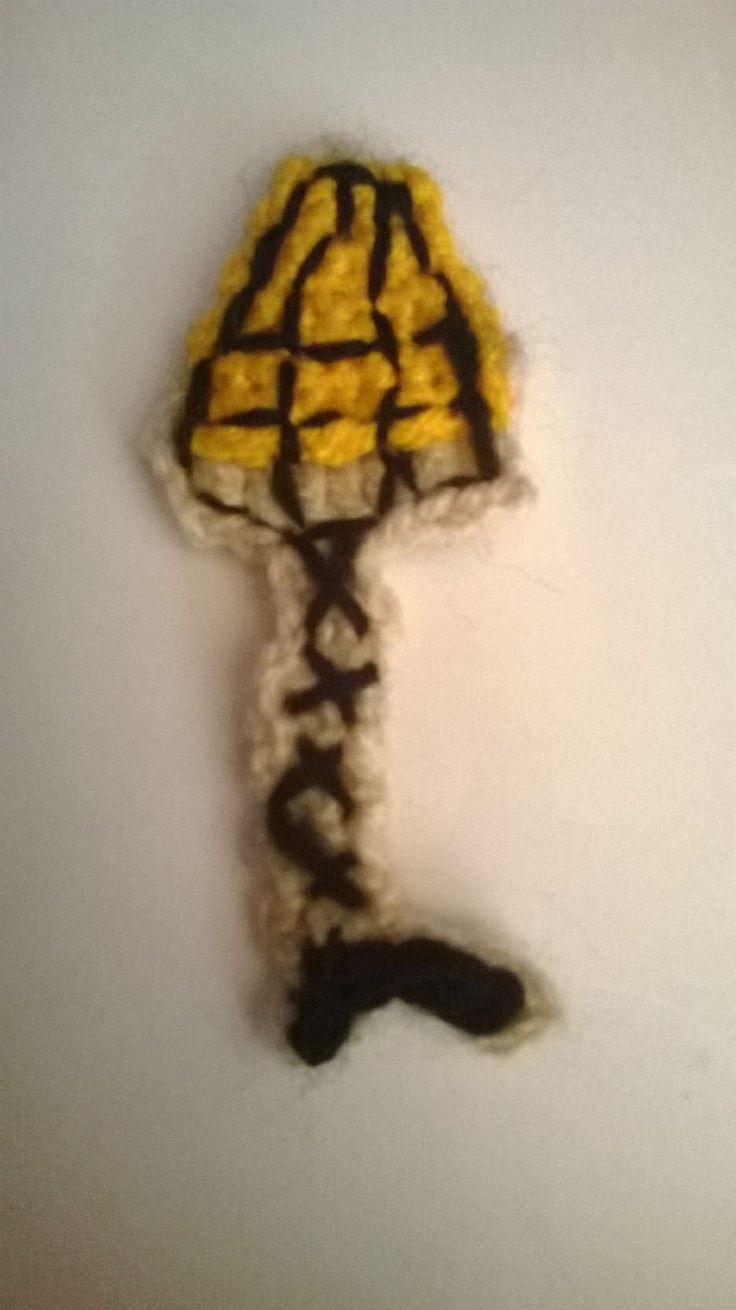 Christmas story leg lamp cookie | crochet applique | Pinterest