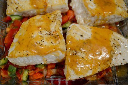 Seared halibut with Gazpacho Salsa with Tomato Vinaigrette -- Smitten ...