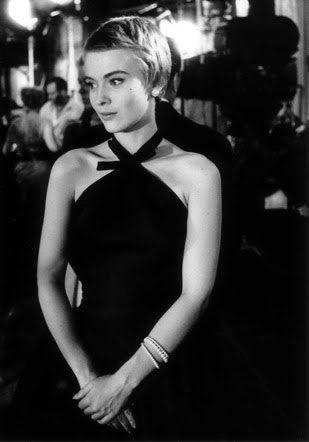 Jean Seberg in pixie cut and a little black dressJean Seberg Pixie Cut