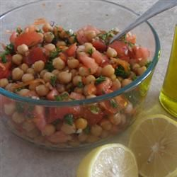 Chickpea Salad with Red Onion and Tomato | Salad Recipes | Pinterest