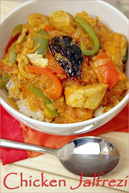 CHICKEN JALFREZI - Curry dish. Indian spices