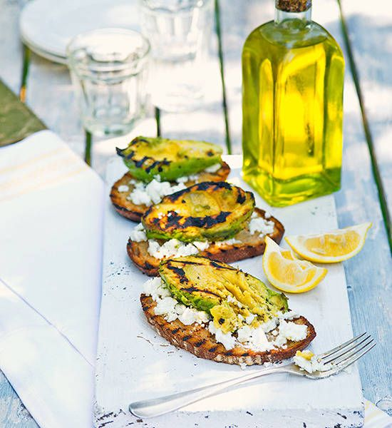 Barbecued avocado with feta on grilled bread: Avocado on toast gets a ...