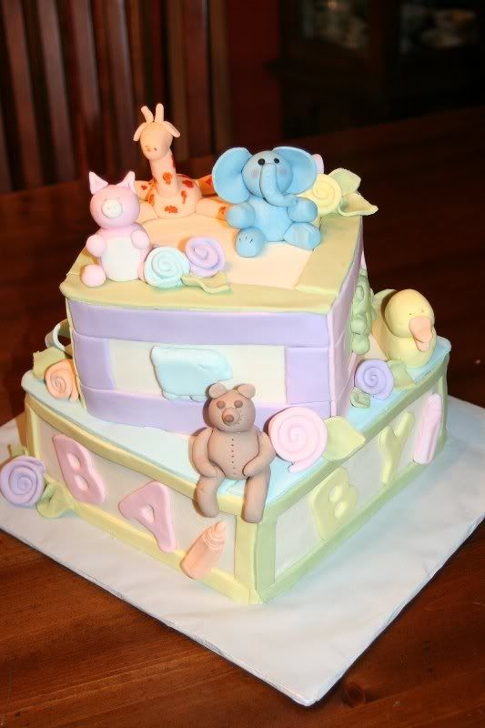 Living room decorating ideas cute baby shower cakes pinterest for Baby boy cake decoration ideas
