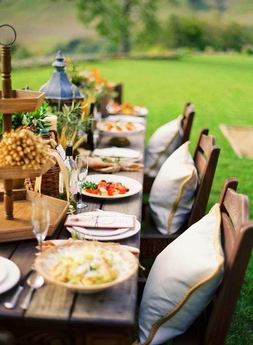 Nighttime Backyard Party Ideas : Backyard Dining  Outdoors  Pinterest