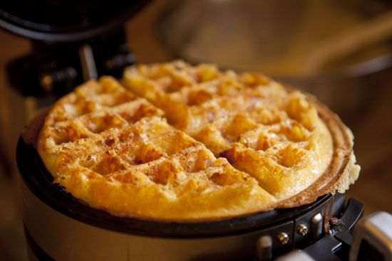 Ham and Cheese Waffles | Recipe