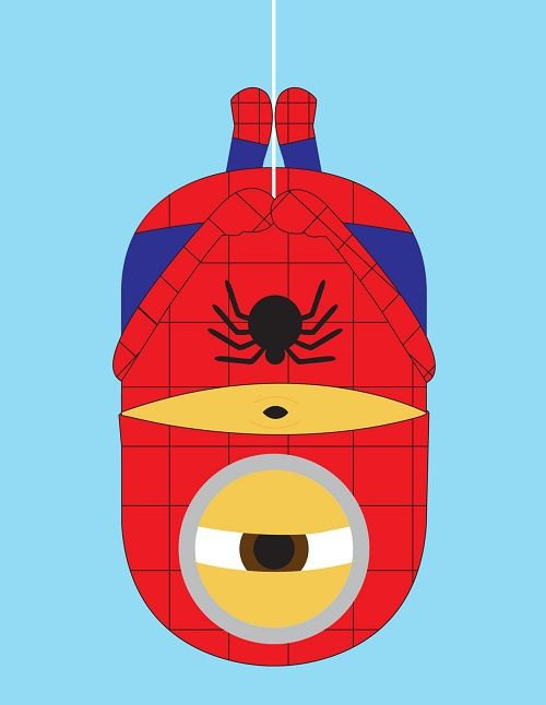 Spiderman—Minions From 'Despicable Me' In Superhero Makeover