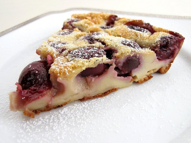 Cherry Clafoutis, a french dessert similar to a german pancake made ...