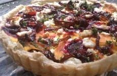 roasted beet and goat cheese tart | yummy food | Pinterest