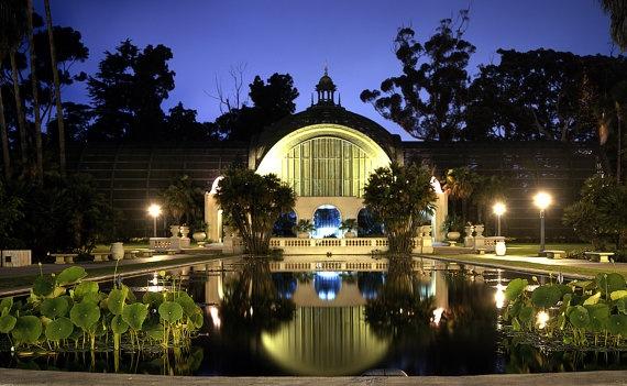 Botanical Garden Balboa Park San Diego At Night 6 X9