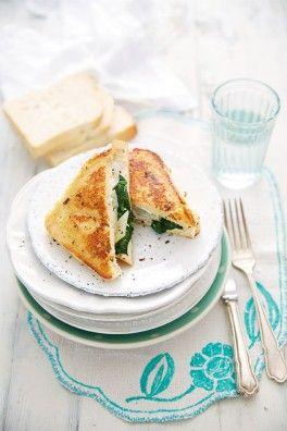 French toast mit spargel ricotta und spinat german recipe