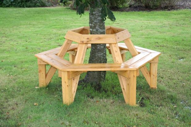 Bench Around Tree Outdoor Living Pinterest