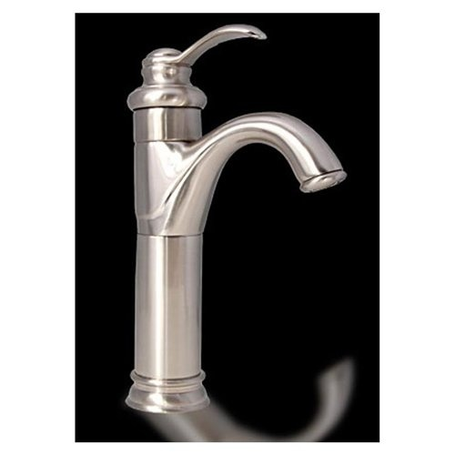 Single Hole Vessel Sink Faucet : Brushed Nickel Bathroom vessel sink Faucet single hole mixer tap