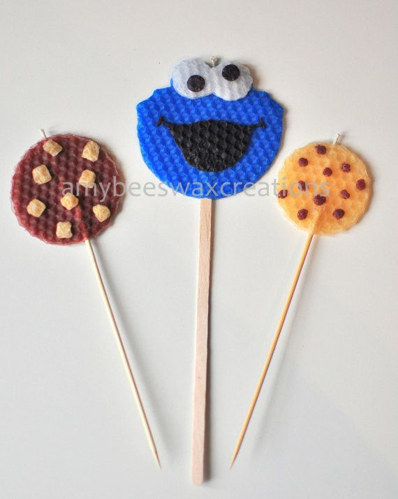 cookie monster birthday candle