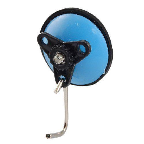 Home Kitchen Detachable Blue Black Plastic Rubber Suction Cup Hooks