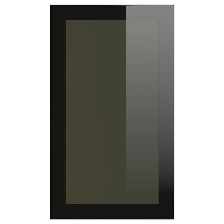 rubrik glass door smoked glass black