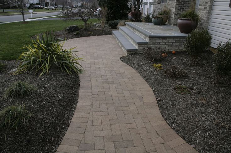exterior design brick walkway landscape designs pinterest