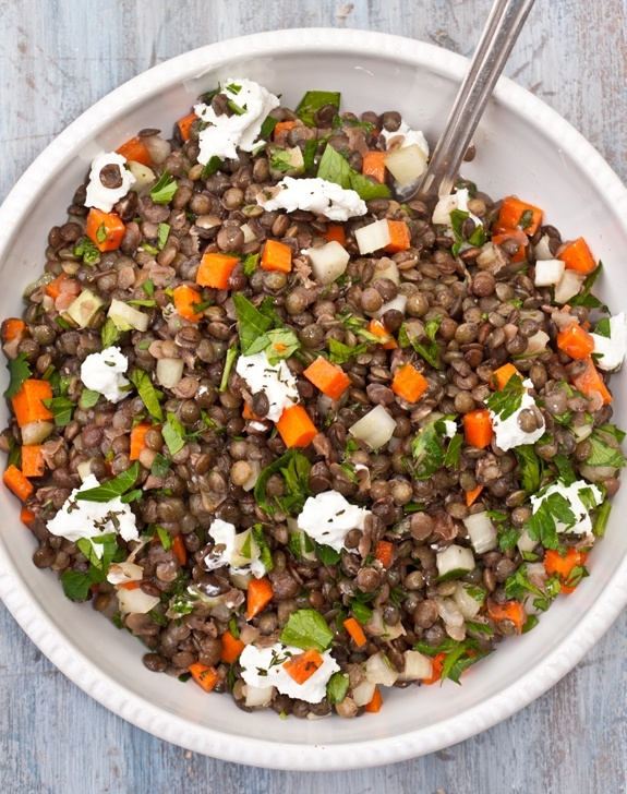 French Lentil Salad with Goat Cheese | Sumptuous Health Foods | Pinte ...
