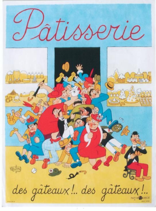 Original Vintage Poster Patisserie French Pastry Dubout | eBay