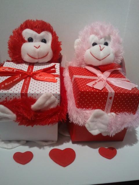 valentine box monkey