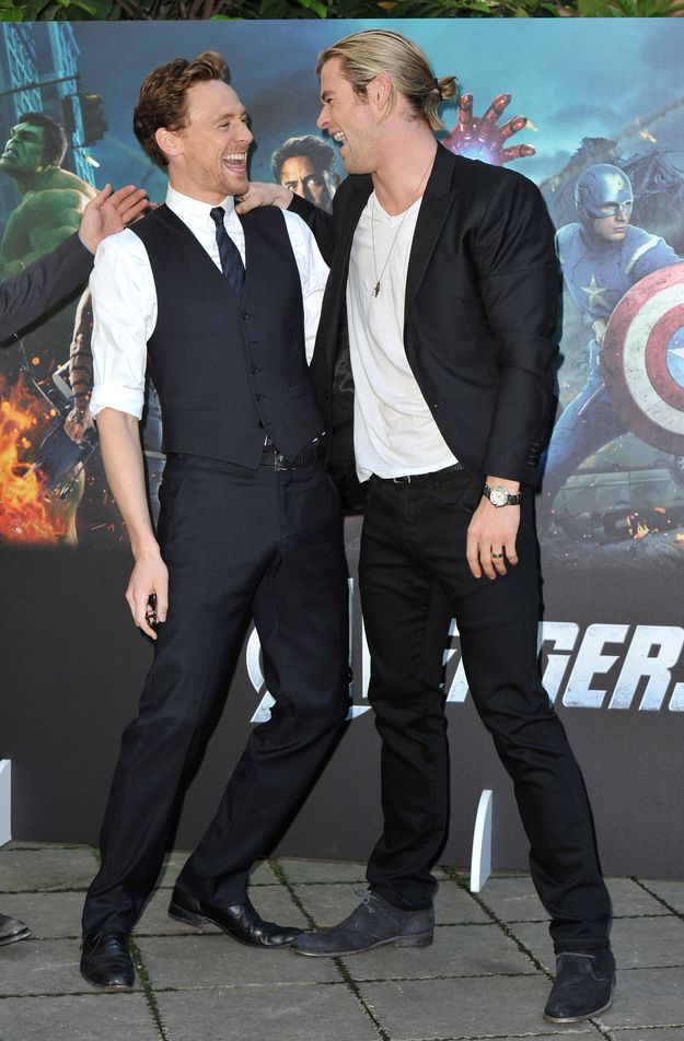 Tom Hiddleston and Chris Hemsworth | Peoples | Pinterest